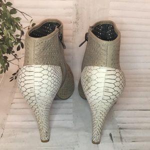 BCBGMaxAzria Shoes - BcbgMaxazria tan laser cut ankle booties size 9.5